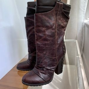 Jessica Simpson - brown leather tall boots